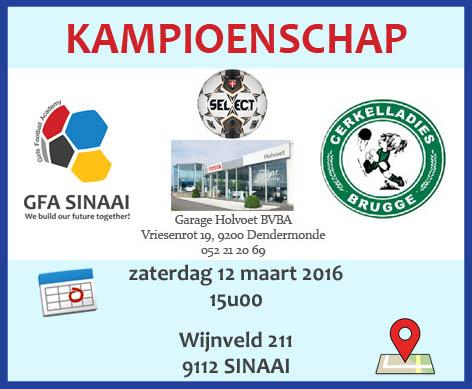 20160312 GFAS - Cerkelladies Brugge